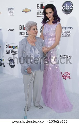 Katy Perry and her Grandmother at the 2012 Billboard Music Awards Arrivals, MGM Grand, Las Vegas, NV 05-20-12