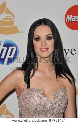 Katy Perry at the 2011 Clive Davis pre-Grammy party at the Beverly Hilton Hotel. February 12, 2011  Beverly Hills, CA Picture: Paul Smith / Featureflash