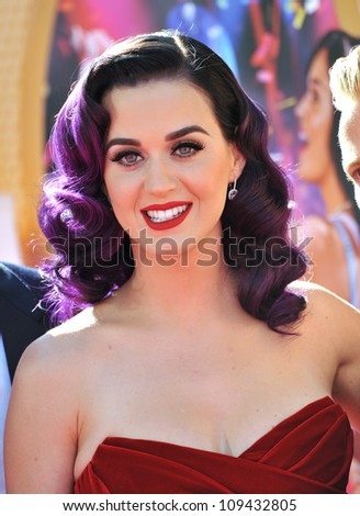 "Katy Perry at the Los Angeles premiere of her new movie ""Katy Perry: Part of Me"" at Grauman's Chinese Theatre, Hollywood. June 27, 2012  Los Angeles, CA Picture: Paul Smith / Featureflash"