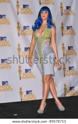 Katy Perry at the 2010 MTV Movie Awards at the Gibson Amphitheatre, Universal Studios, Hollywood. June 6, 2010  Los Angeles, CA Picture: Paul Smith / Featureflash - stock photo