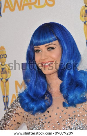 Katy Perry at the 2010 MTV Movie Awards at the Gibson Amphitheatre, Universal Studios, Hollywood. June 6, 2010  Los Angeles, CA Picture: Paul Smith / Featureflash