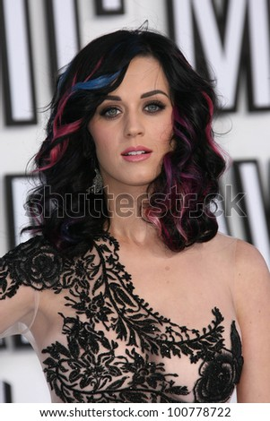 Katy Perry at the 2010 MTV Video Music Awards, Nokia Theatre L.A. LIVE, Los Angeles, CA. 08-12-10 - stock photo