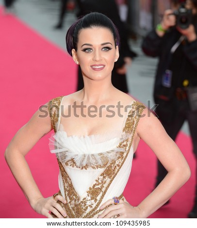 Katy Perry attends the Katy Perry: Part Of Me premiere at Leicester Square, London, UK. July 3, 2012. Picture: Catchlight Media / Featureflash
