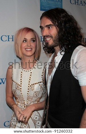 "Katy Perry, Russell Brand at the 3rd Annual ""Change Begins Within"" Benefit Celebration, Los Angeles Times Central Court, Los Angeles, CA 12-03-11 - stock photo"