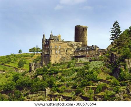 Katz Castle (German: Burg Katz) is a castle above the German town of St. Goarshausen in Rhineland-Palatinate. Rhine Valley is UNESCO World Heritage Site