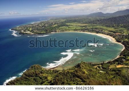 Kauai, Hawaii view from helicopter