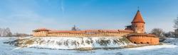 Kaunas Castle in winter, Lithuania