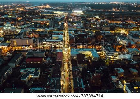 kaunas city at night  lithuania....