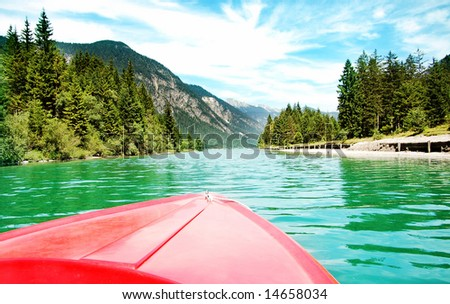kayak in alp lake