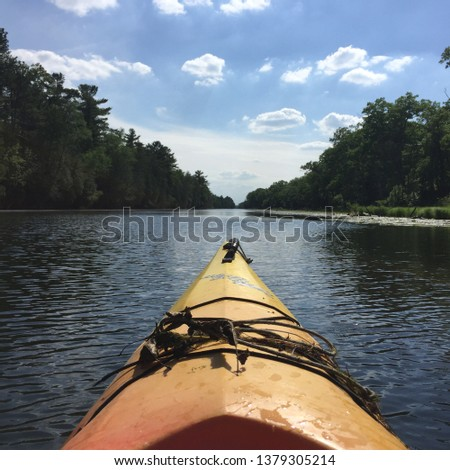 Kayak on a River