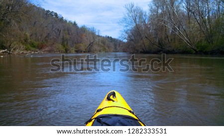 Kayak on French Broad River