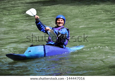 Kayaking, extreme, sport, water, fun, relax