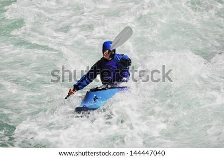 Kayaking, extreme, sport, water, fun, relax
