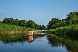 Kayaking in Amsterdamse Bos, Amsterdam, The Netherlands