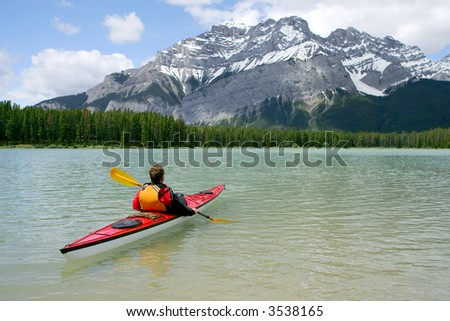 Kayaking in Banff National Park, Canada