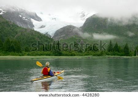 Kayaking in Prince Williams Sound, Alaska