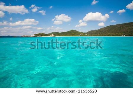 Kayaking on clear blue waters of Okinawa