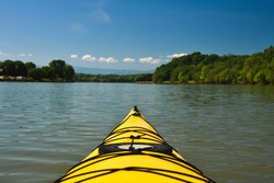 Kayaking on the tail waters of the French Broad River in Tennessee