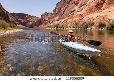 kayaking the colorado river ...