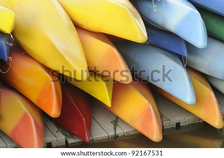 Kayaks for Rent - stock photo