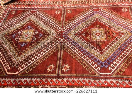 Kayseri Buyun rugs  in a carpet showroom in  Cappadocia, Turkey