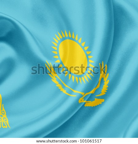 Kazakhstan waving flag