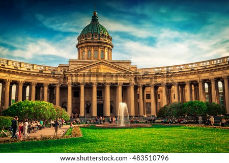 Shutterstock Kazan cathedral in Saint Petersburg, Russia. Famous touristic place.