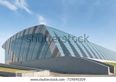 KAZAN, REPUBLIC TATARSTAN, RUSSIA - September 19, 2017. Aquatics Palace. Palace of Water Sports. #719890309