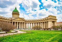 Kazan Temple - greatest architectural creation. Saint Petersburg. Russia.