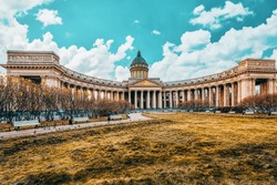 Kazan Temple - greatest architectural creation. Saint Petersburg. Russia.