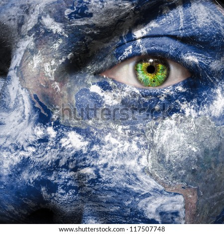 Keep an eye on the world to raise awareness for green energy and sustainability  - Elements of this image furnished by NASA