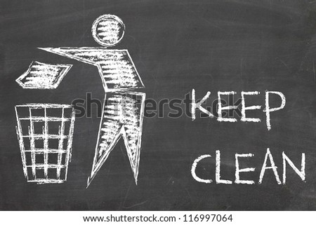 keep clean sign