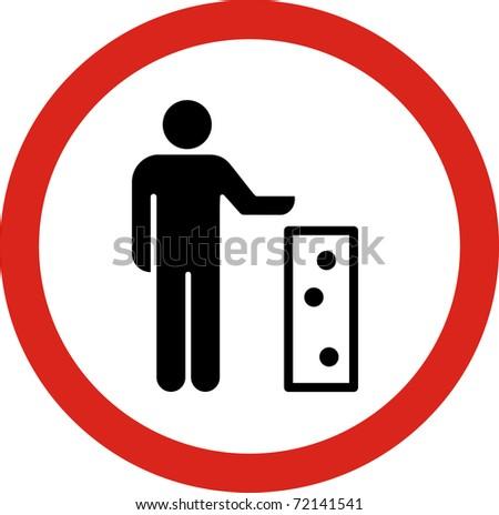 Keep clean sign in JPG