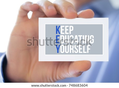Keep Educating Yourself #748683604