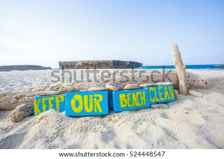 Keep our beach clean #524448547