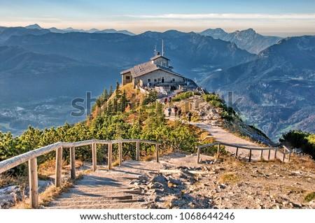 Kehlstein Eagles Nest Berchtesgaden Bavaria Germany Alps View Landscape