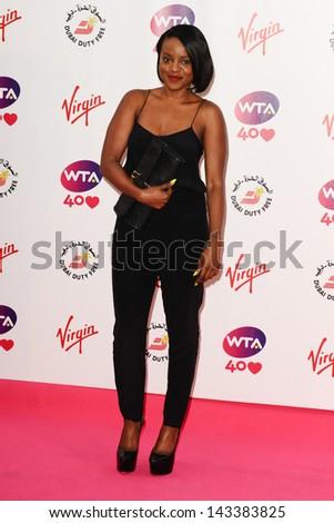Keisha Buchanan arriving for the WTA Pre-Wimbledon Party 2013 at the Kensington Roof Gardens, London. 20/06/2013