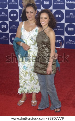 KEISHA CASTLE-HUGHES at the 2004 IFP Independent Spirit Awards on the beach at Santa Monica, CA. February 28, 2004