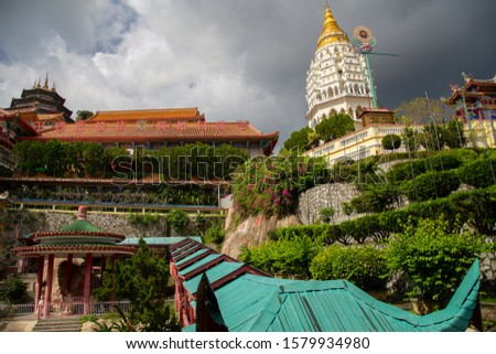 Kek Lok Si Temple architecture in Penang island Malaysia, Cultural heritage Attractive place Buddhist Southeast, Religious beliefs and cultures for worship