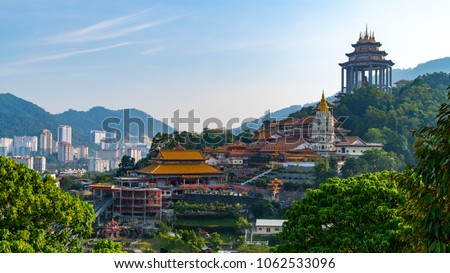 Kek Lok Si Temple at Georgetown Penang, Malasia int he day light time you can use for tourist advertisement