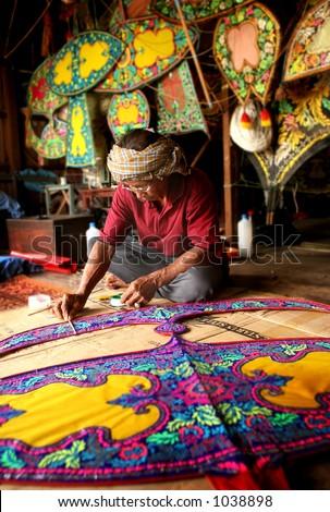 """kelantan traditional Kite called """"wau bulan"""""""