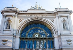 Keleti railway station in Budapest, Hungary, Europe