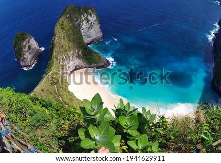 Kellingking beach on Nosa Penida in Indonesia Zdjęcia stock ©