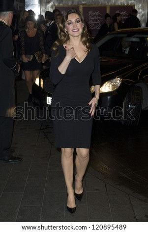 Kelly Brook arriving for the British Fashion Awards 2012 at the Savoy Hotel, London. 27/11/2012 Picture by: Simon Burchell