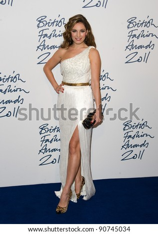 Kelly Brook arriving for the 2011 British Fashion Awards, at The Savoy, London. 28/11/2011 Picture by: Simon Burchell / Featureflash
