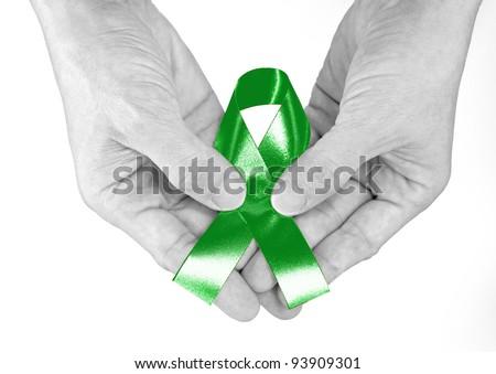 Kelly Green Ribbon a Symbol of Kidney Cancer