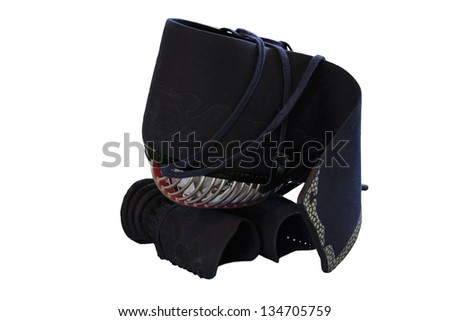 Kendo equipment - MEN (head protector) and KOTE (arm protector) with clipping path