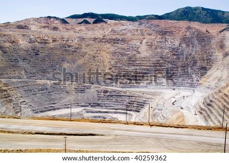 Kennecott Copper Mine in close view