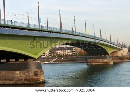 Kennedy Bridge (German: Kennedybr?cke) after the reconstruction, middle of Bonn's three Rhine bridges, connecting  the city center of Bonn with the town center of Beuel