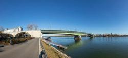 Kennedy bridge in Bonn crossing the river rhine